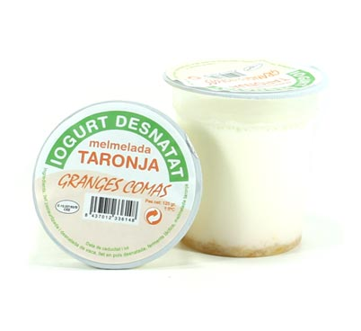 Iogurt desnatat amb taronja Granges Comas