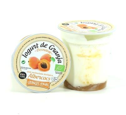 Iogurt desnatat amb melmelada biològica d'albercoc Granges Comas