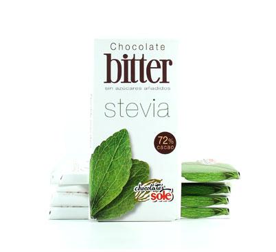 Xocolata bitter amb stevia Solé