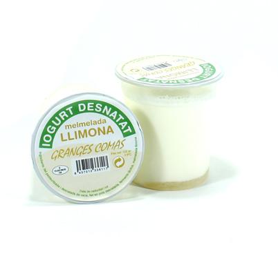 Iogurt desnatat amb llimona Granges Comas