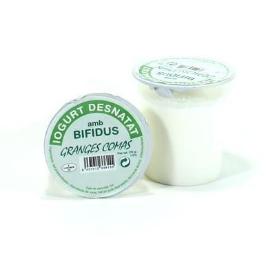 Iogurt desnatat natural amb bifidus Granges Comas