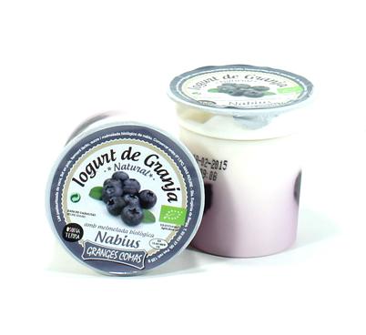 Iogurt natural amb melmelada biològica de nabius Granges Comas