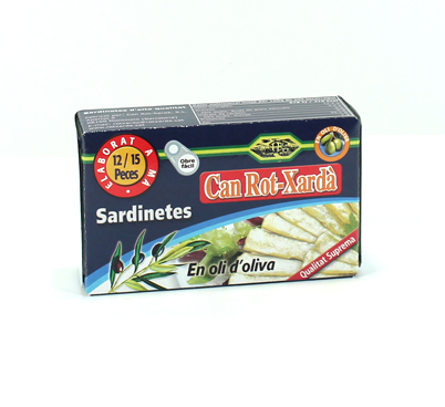 Sardinetes en oli d'oliva Rot-Xardà