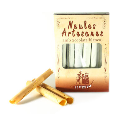 Neules artesanes amb xocolata blanca, El Neuler