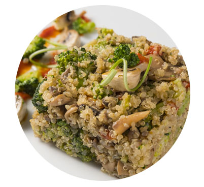 Quinoa amb verdures, Jotri
