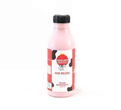 Iogurt de maduixa per beure