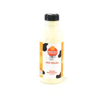Iogurt de mandarina per beure