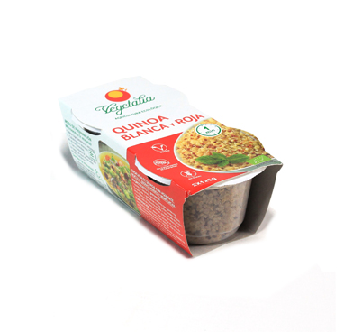 Quinoa blanca i vermella cuita, Vegetalia