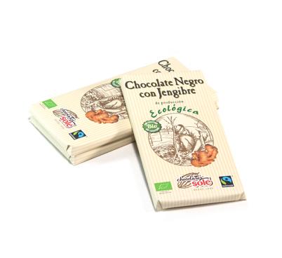Xocolata negra ecològica amb gingebre, Solé