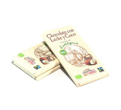 Xocolata ecològica amb llet i coco, Solé