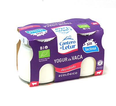 Iogurt de vaca desnatat sense lactosa Cantero de Letur