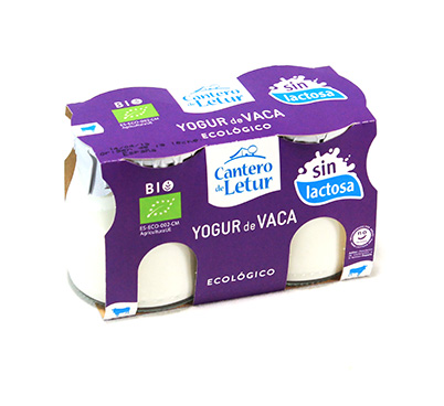 Iogurt de vaca sense lactosa natural Cantero de Letur