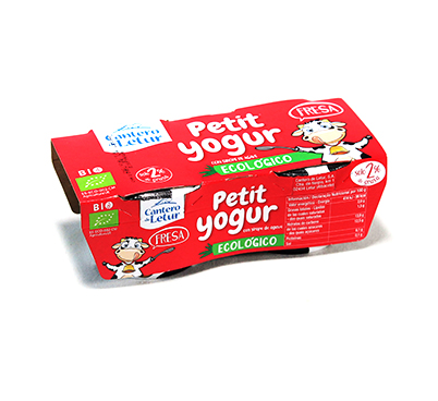 Petit iogurt Ecològic de maduixa, Cantero de Letur