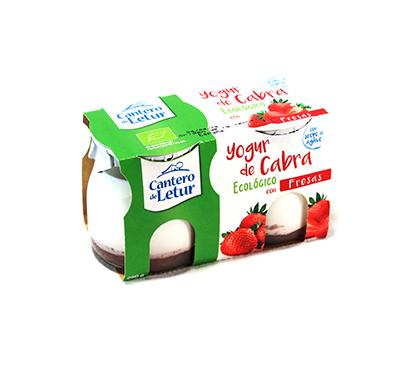 Iogurt de cabra ecològic amb maduixes Cantero de Letur